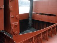 Close up of port machinery