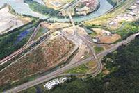 Aerial View of Interstate and Roads