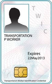 Identification Card Example - Transportation Worker